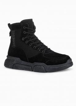 Juodi sneakers batai vyrams internetu pigiau paaukštinti T348 15993-2