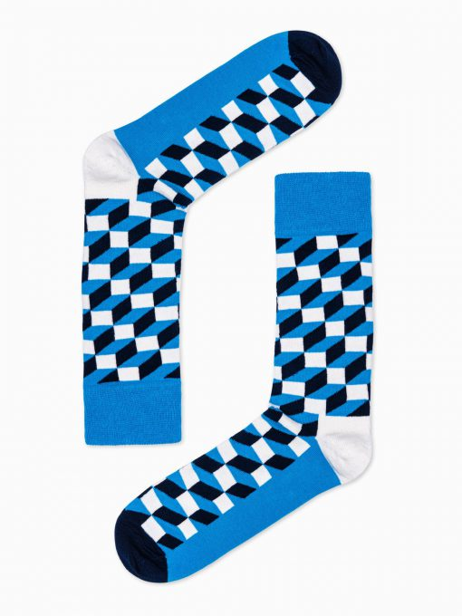 Mėlynos kokybiškos vyriškos kojinės internetu pigiau U84 16027-4