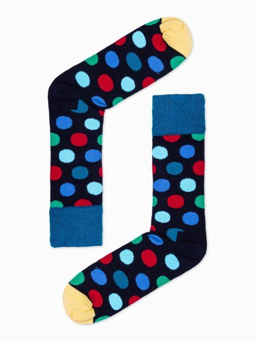 Tansiai mėlynos madingos kojinės vyrams internetu pigiau U93 16028-3