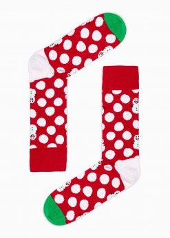 Raudonos madingos kojinės vyrams internetu pigiau U95 16032-3