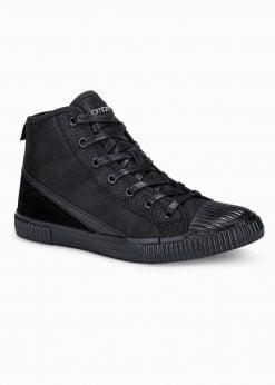 Juodi paaukštinti laisvalaikio batai vyrams internetu pigiau T350 16077-1