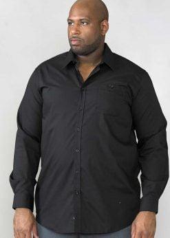 Didelių dydžių marškiniai vyrams ilgomis rankovėmis CORBIN juodi KS11402-1