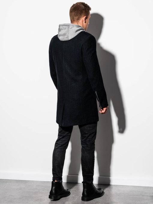 Juodas vyriškas paltas internetu pigiau C433 14302-2