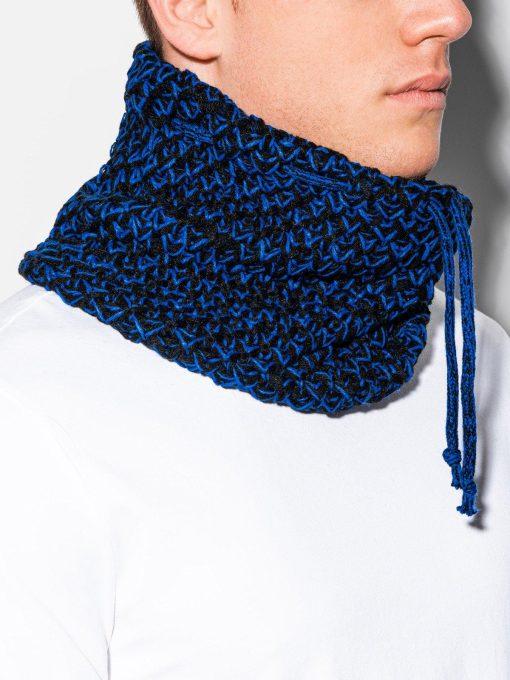 Madingas juodas-mėlynas šalikas mova vyrams internetu pigiau A097 11059-1