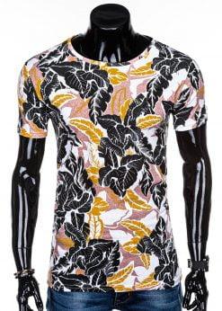 Balti gėlėti vyriški marškinėliai su aplikacijomis internetu pigiau S1280 14998-4
