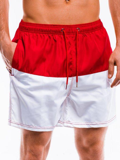 Raudoni maudymosi šortai vyrams internetu pigiau W280 15141-1