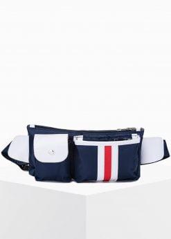 Tamsiai mėlynas pečių krepšys vyrams internetu pigiau A273 15277-1