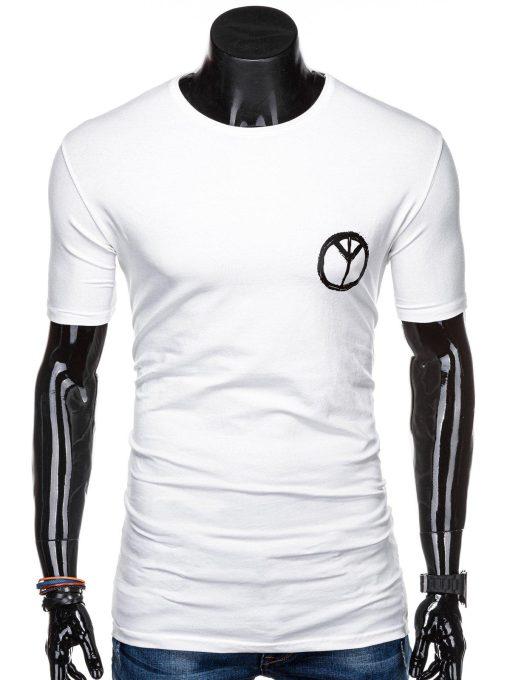 Rusvi vyriški marškinėliai su užrašu internetu pigiau S1316 15394-2