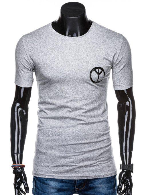 Švėsiai pilki vyriški marškinėliai su užrašu internetu pigiau S1316 15398-1