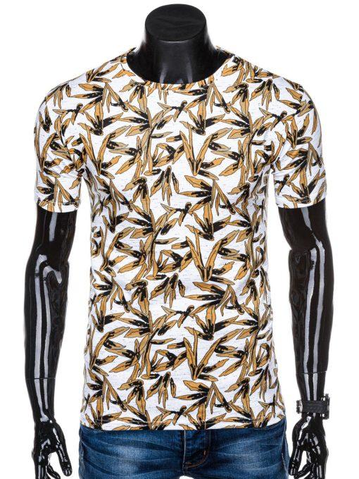 Balti gėlėti vyriški marškinėliai su aplikacijomis internetu pigiau S1320 15417-1