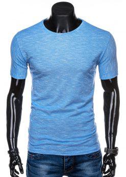 Šviesiai mėlyni marškinėliai vyrams internetu pigiau S1323 15421-3