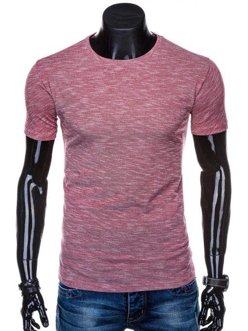 Tamsiai raudoni marškinėliai vyrams internetu pigiau S1323 15422-1