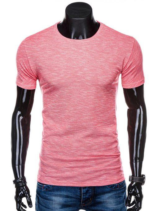 Rožiniai marškinėliai vyrams internetu pigiau S1323 15426-1