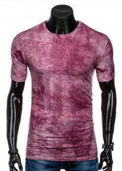 Raudoni marginti marškinėliai vyrams internetu pigiau S1339 15632-1