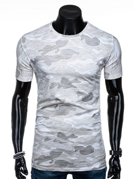 Madingi rusvi kamufliažiniai marškinėliai vyrams internetu pigiau S1203 15645-2