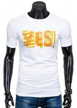 Balti vyriškimarškinėliai suužrašu internetu pigiauS1352 15672-3