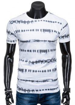Stilingi balti marškinėliai vyrams internetu pigiau S1359 15691-1