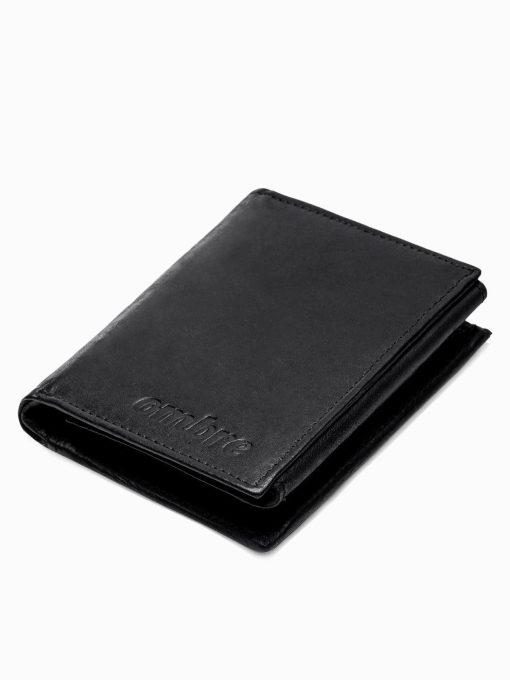Juoda odinė vyriška piniginė internetu pigiau A301 16220-1