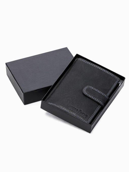 Juoda odine pinigine vyrams internetu pigiau A345 16702-2