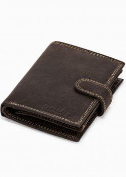 Ruda odinė vyriška piniginė internetu pigiau A345 16703-1