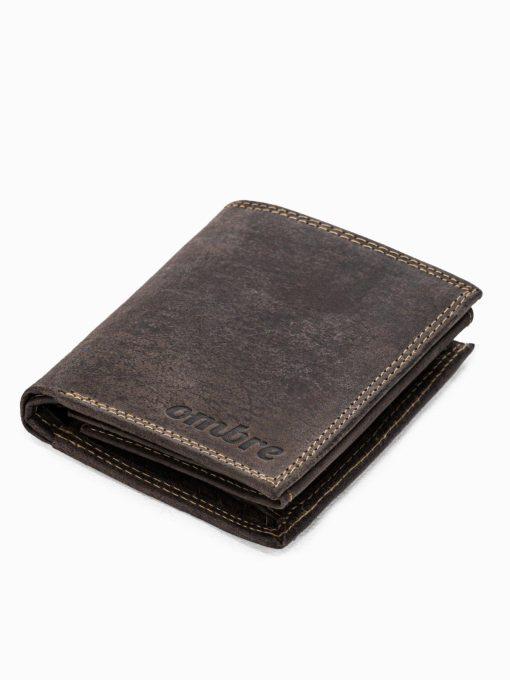 Ruda odinė vyriška piniginė internetu pigiau A344 16708-1