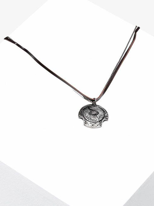 Vyriškas papuošalas ant kaklo su gėle internetu pigiau A361 16744-2