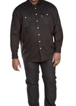 Didelių dydžių marškiniai vyrams džinsiniai WESTERN KS1024J-1