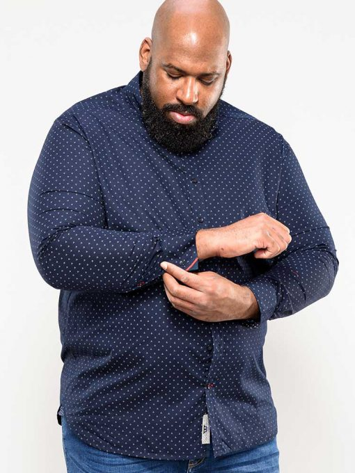 Didelių dydžių marškiniai vyrams ilgomis rankovėmis internetu pigiau Augusta-110805TM-1