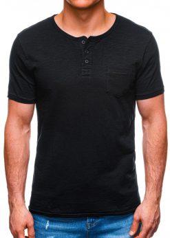 Juodi marškinėliai vyrams su kišenėle internetuS1389 16792-2