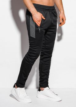 Juodos vyriškos sportinės kelnės internetu pigiau P1011 17026-1