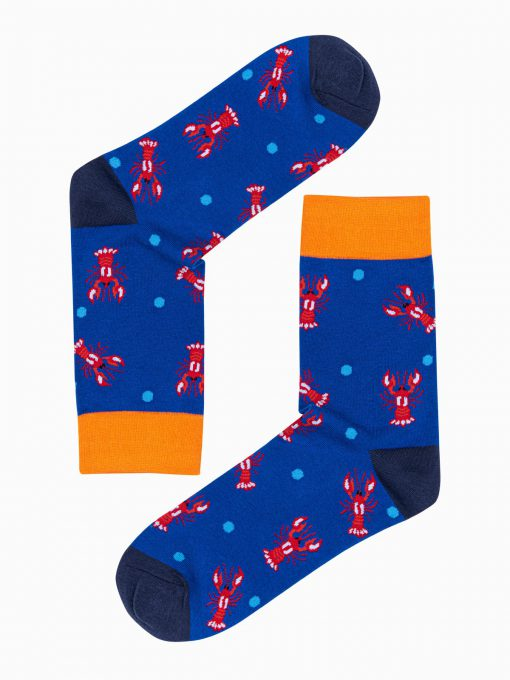 Mėlynos kokybiškos vyriškos kojinės internetu pigiau U107 17189-1
