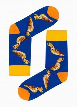 Mėlynos kokybiškos vyriškos kojinės internetu pigiau U108 17190-1