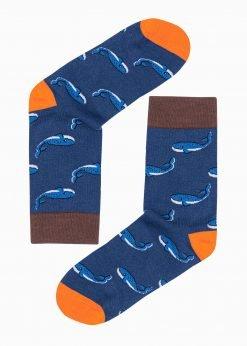 Mėlynos kokybiškos vyriškos kojinės internetu pigiau U109 17193-1