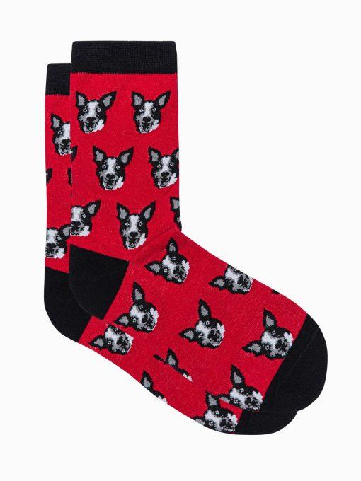 Raudonos vyriskos kojines su paveiksliukais internetu pigiau U105 17210-2