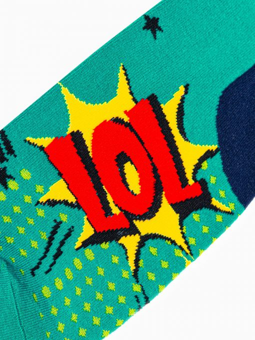 Zalios kokybiskos vyriskos kojines su paveiksliukais internetu pigiau U106 17211-3