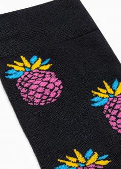 Juodos kokybiskos vyriskos kojines su ananasais internetu pigiau U117 17250-3