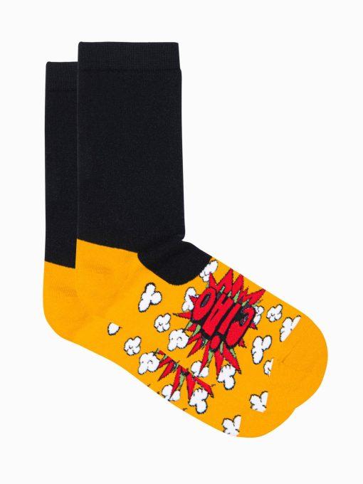 Geltonos vyriskos kojines su paveiksliukais internetu pigios U121 17254-2