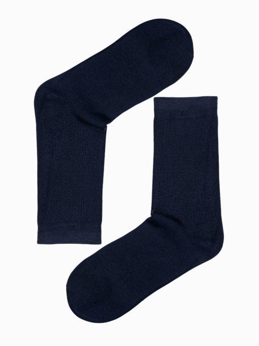 Tamsiai mėlynos kokybiškos vyriškos kojinės internetu pigiau U97 17258-1