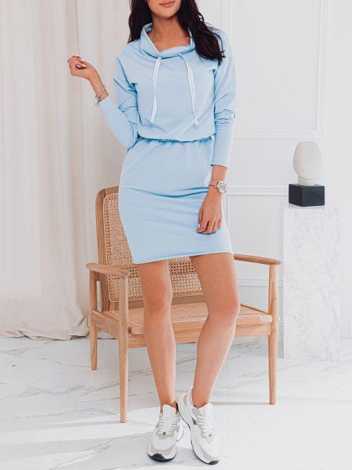Šviesiai mėlyna moteriška suknelė internetu pigiau DLR003 17282-3