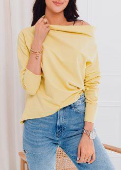 Geltona moteriska palaidine su placia iskirpte internetu pigiau LLR001 17283-1