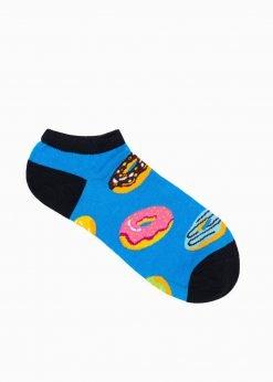 Mėlynos trumpos vyriškos kojinės su paveiksliukais internetu pigiau U101 17288-1
