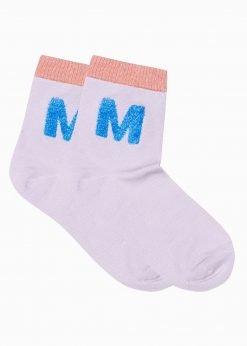 Violetinės kokybiškos moteriškos kojinės internetu pigiau ULR021 17311-1
