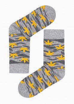 Pilkos kokybiškos vyriškos kojinės su kanapėmis internetu pigiau U112 17315-1