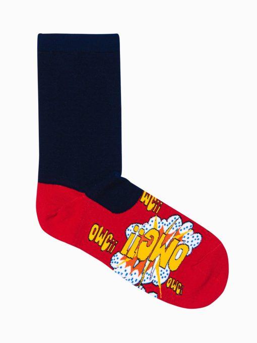 Raudonos kokybiskos kojines vyrams su paveiksliukais internetu pigios U124 17324-4