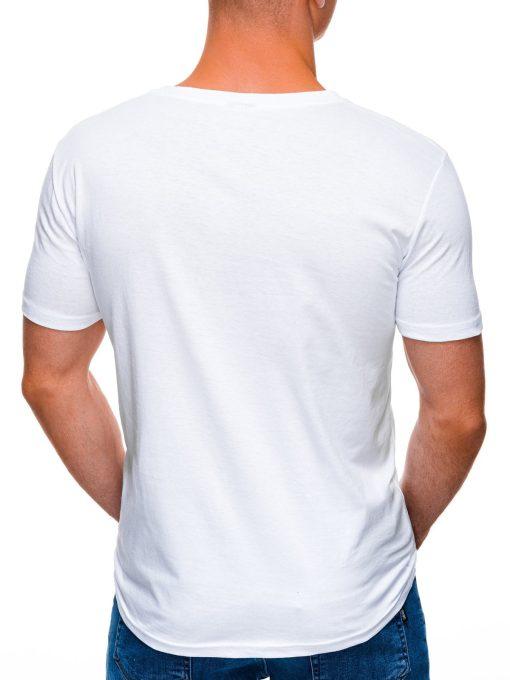 Balti marskineliai vyrams su uzrasu internetu pigiau S1403 17358-4