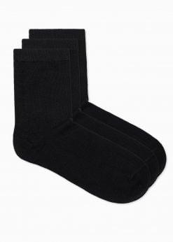 Juodos kokybiškos vyriškos kojinės internetu pigios 3 vnt. pakuotėje U100 17375-1