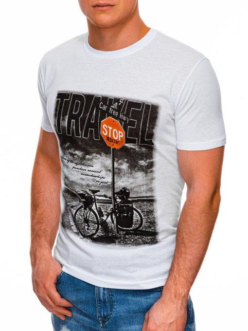 Balti vyriski marskineliai su dviraciu internetu pigiau S1398 17398-3