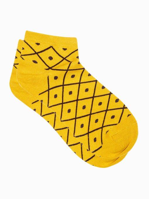Geltonos kokybiškos moteriškos kojinės internetu pigiau ULR002 17276-2
