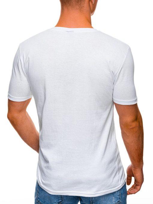 Balti marskineliai vyrams pigiau internetu S1395 17414-4