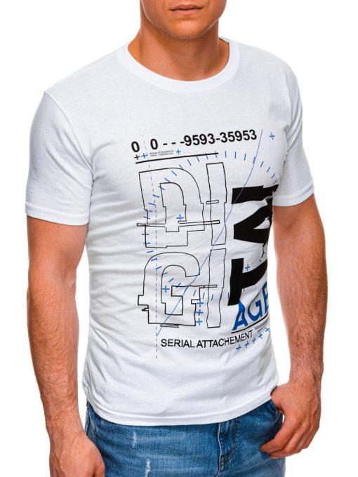 Balti vyriski marskineliai su uzrasu internetu pigus S1396 17434-4